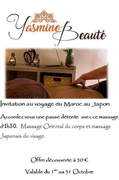 Offre massage octobre 18